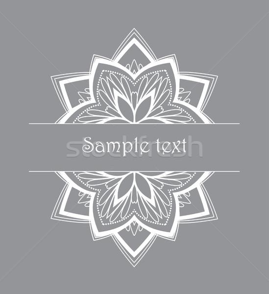 Vektör dizayn gri çiçek yaprak Stok fotoğraf © odina222