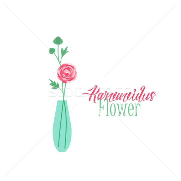 Váza virágok virágváza virág szeretet levél Stock fotó © odina222