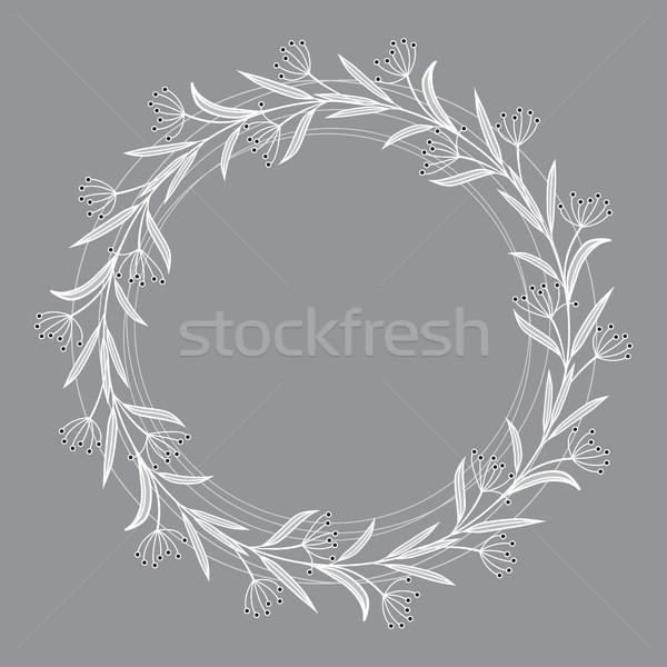 çerçeve yaprakları doğal romantik dekorasyon Stok fotoğraf © odina222