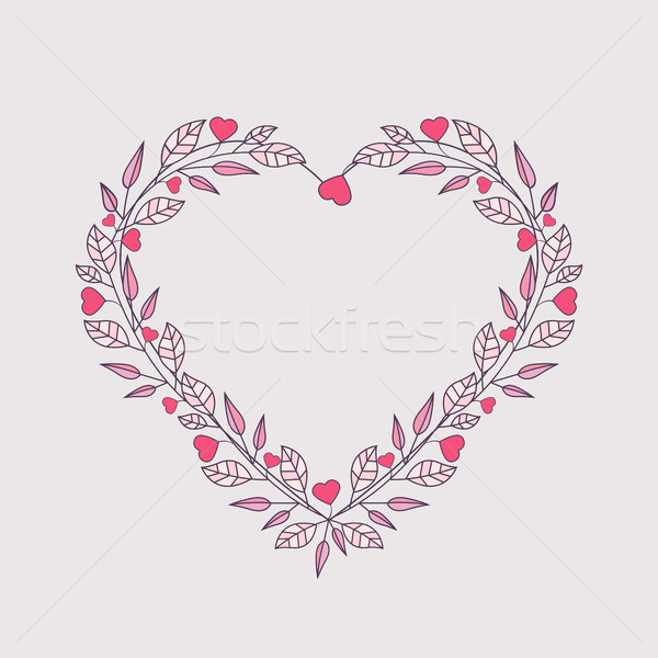 Romantic heart decoration Stock photo © odina222