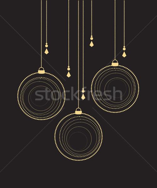 Stockfoto: Vector · christmas · zwarte · partij · ontwerp