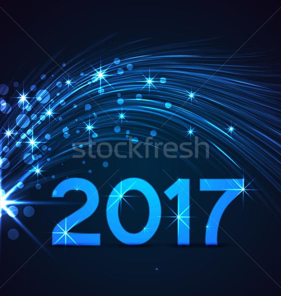 Gelukkig nieuwjaar partij gelukkig kalender winter nacht Stockfoto © odina222