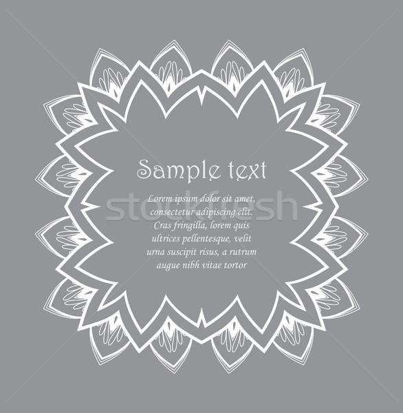 Vector ontwerp grijs bloem blad Stockfoto © odina222