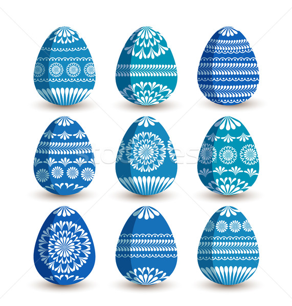 Vector Easter eggs Stock photo © odina222