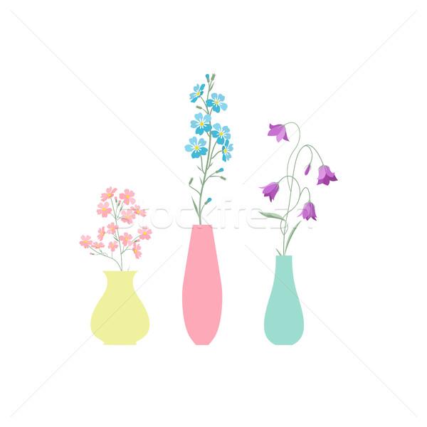 ваза цветы различный аннотация дизайна Сток-фото © odina222