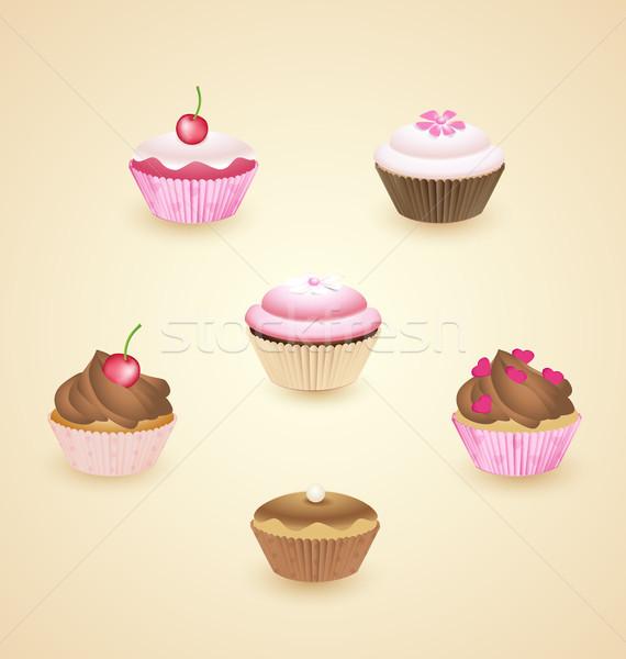 Cupcakes Stock photo © odina222