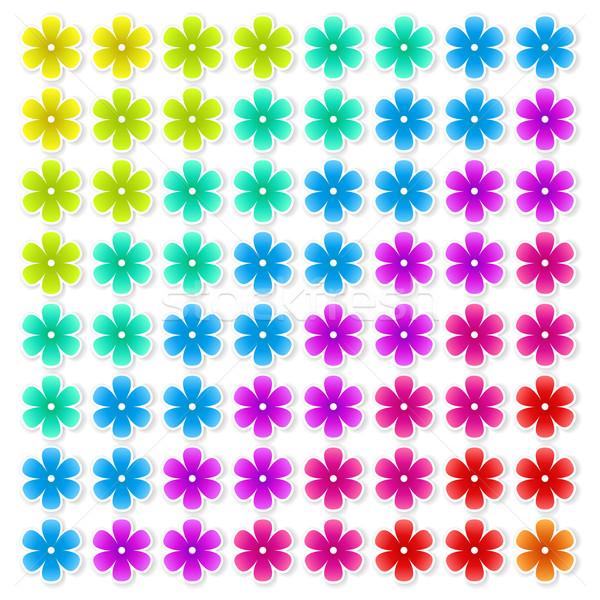 цветочный красочный цветы Тени бумаги Сток-фото © odina222