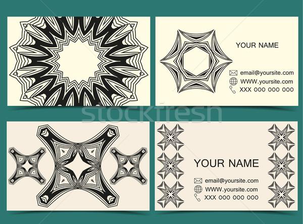 Vettore carte disegni set due Foto d'archivio © odina222