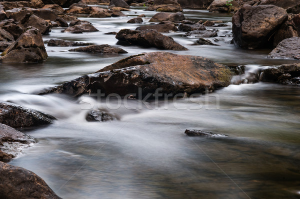 fast mountain river flowing among stones Stock photo © oei1