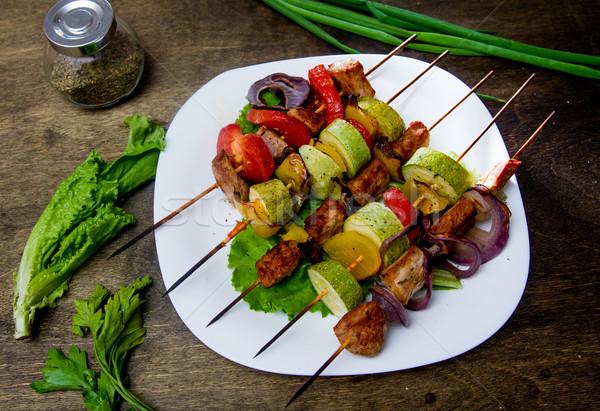 мяса свежие овощи различный обеда приготовления пламени Сток-фото © oei1