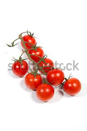 Tomates cherry vid frescos aislado verde rojo Foto stock © oei1
