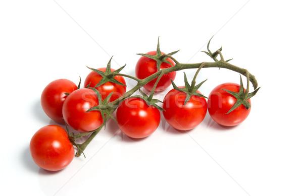 помидоры черри винограда свежие изолированный зеленый красный Сток-фото © oei1