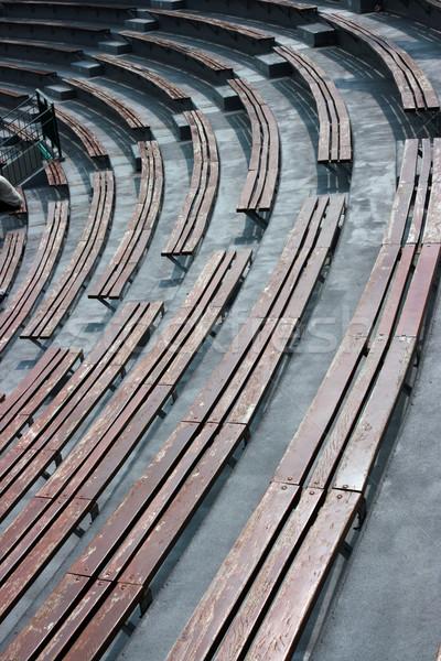 пусто стадион построить стоять сиденье посещение Сток-фото © offscreen