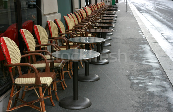 Restaurant peu rue café cool chaises Photo stock © offscreen