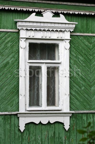 окна старые сельский дома белый древесины Сток-фото © offscreen