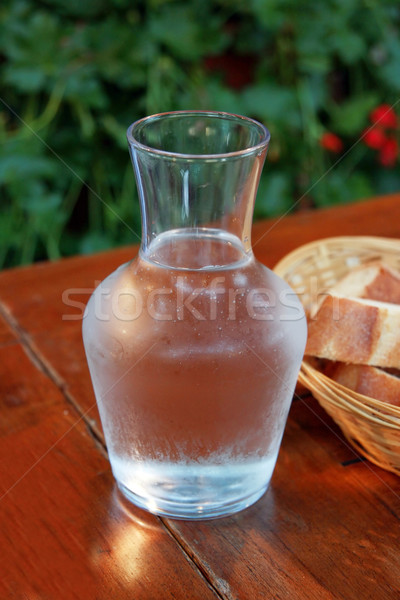 воды хлеб таблице ресторан Сток-фото © offscreen