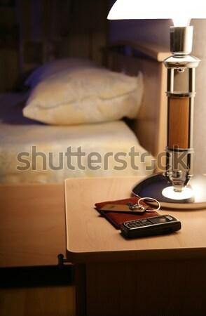 лампы телефон таблице отель бумаги свет Сток-фото © offscreen