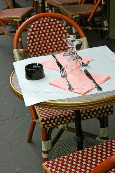 ресторан два свободный продовольствие стекла ножом Сток-фото © offscreen