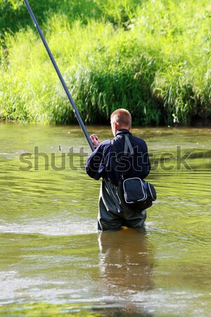 рыбак реке воды солнце спорт Сток-фото © offscreen