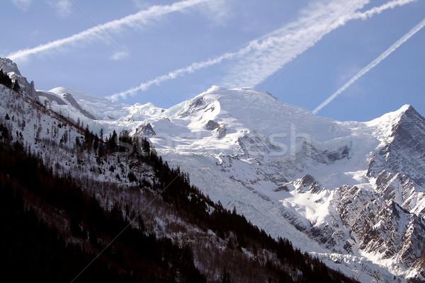 Франция льда зима синий путешествия гор Сток-фото © offscreen