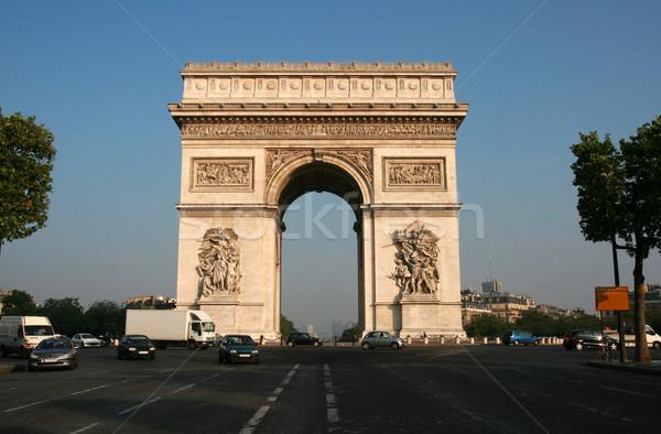арки Париж утра здании городского каменные Сток-фото © offscreen