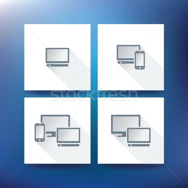 Internet service provider icons, eps 10 Stock photo © ojal