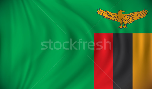флаг Замбия дизайна Мир зеленый синий Сток-фото © ojal