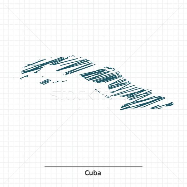Doodle sketch of Cuba map Stock photo © ojal