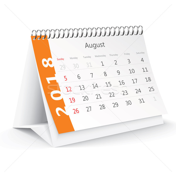 август столе календаря служба весны зима Сток-фото © ojal