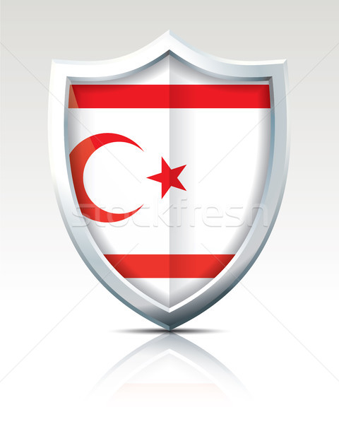 Shield with Flag of Northern Cyprus Stock photo © ojal