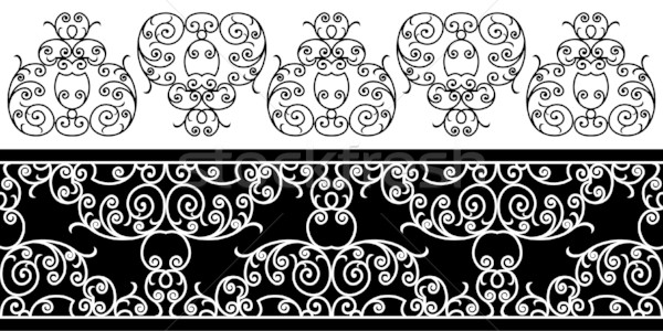 wrought iron elements - repeating left to right Stock photo © ojal
