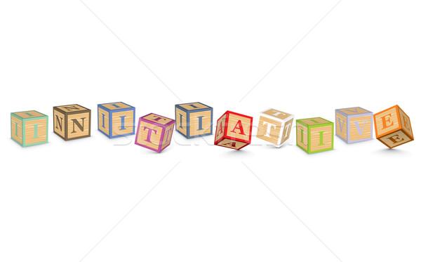 Palavra iniciativa escrito alfabeto blocos negócio Foto stock © ojal