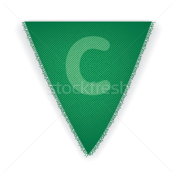 Bunting flag letter C Stock photo © ojal
