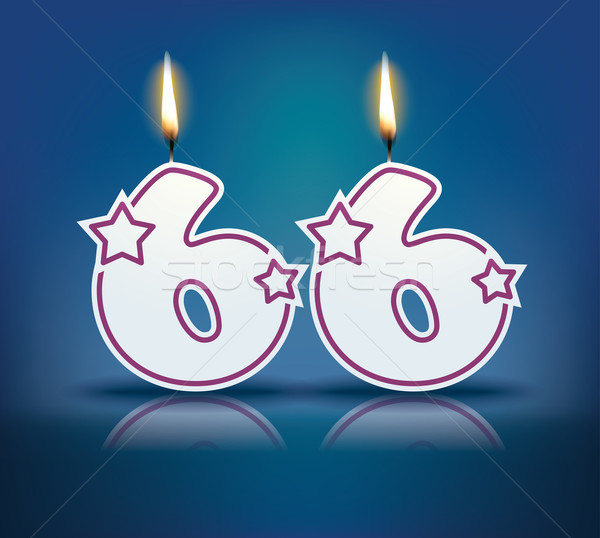 Birthday candle number 66 Stock photo © ojal