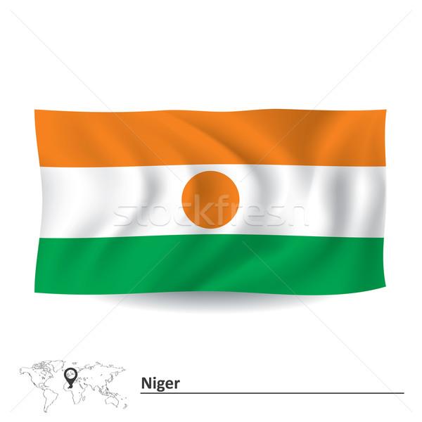 Bandera Níger textura diseno verde viaje Foto stock © ojal