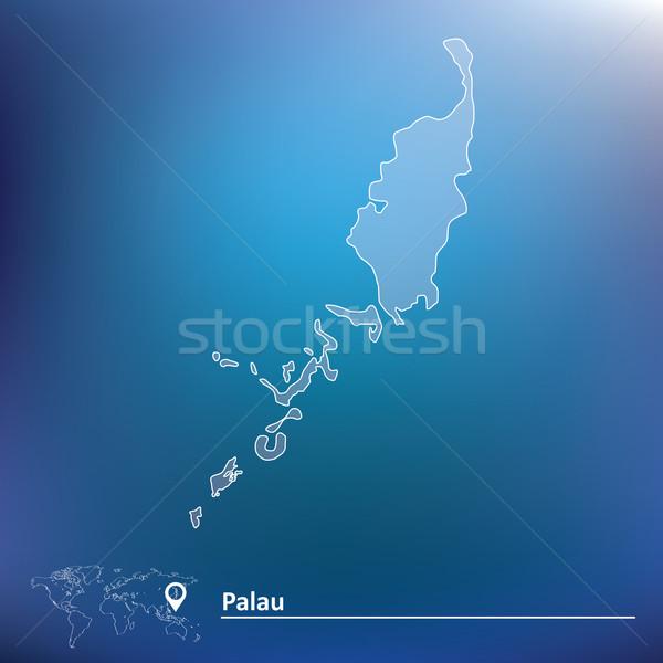 地図 パラオ テクスチャ デザイン 背景 旅行 ストックフォト © ojal