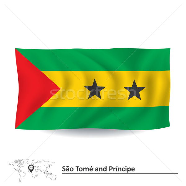 Flag of Sao Tome and Principe Stock photo © ojal