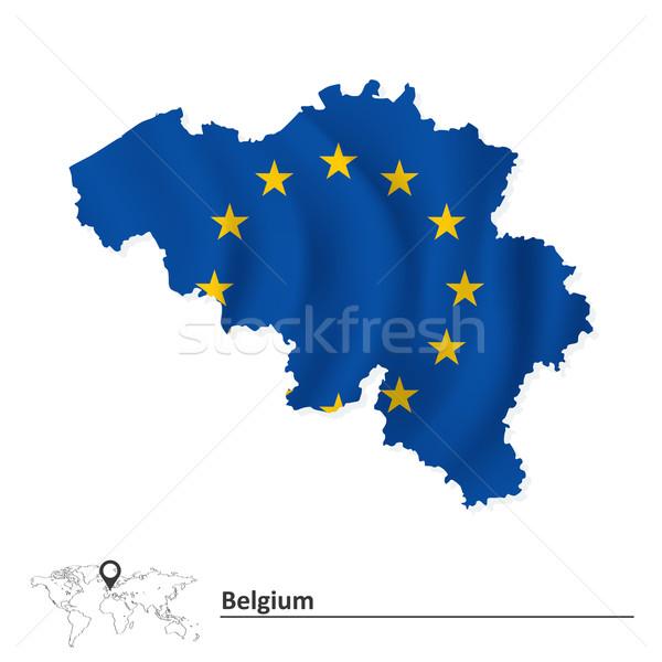 地図 ベルギー ヨーロッパの 組合 フラグ 世界 ストックフォト © ojal