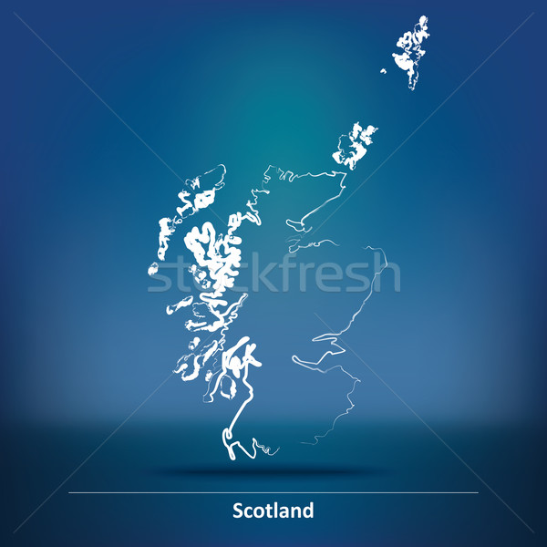 Doodle Map of Scotland Stock photo © ojal