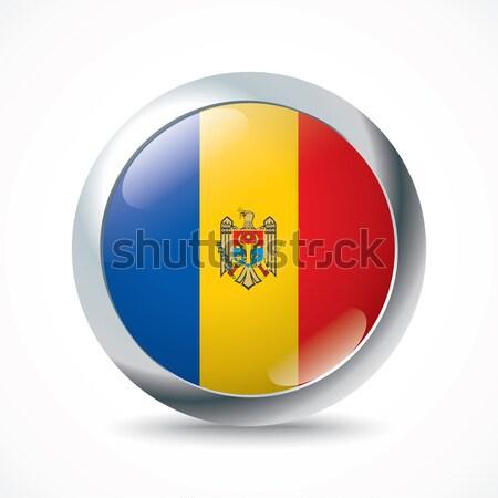 Moldova zászló gomb textúra absztrakt terv Stock fotó © ojal