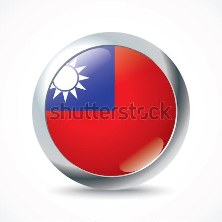 Taiwan flag button Stock photo © ojal