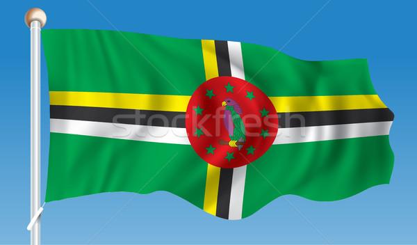 Vlag Dominica textuur kaart achtergrond kunst Stockfoto © ojal