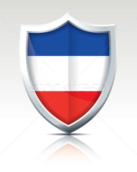щит флаг Сербия Черногория дизайна Мир Сток-фото © ojal