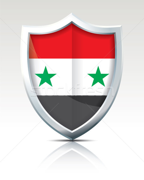Schild vlag Syrië textuur wereld teken Stockfoto © ojal