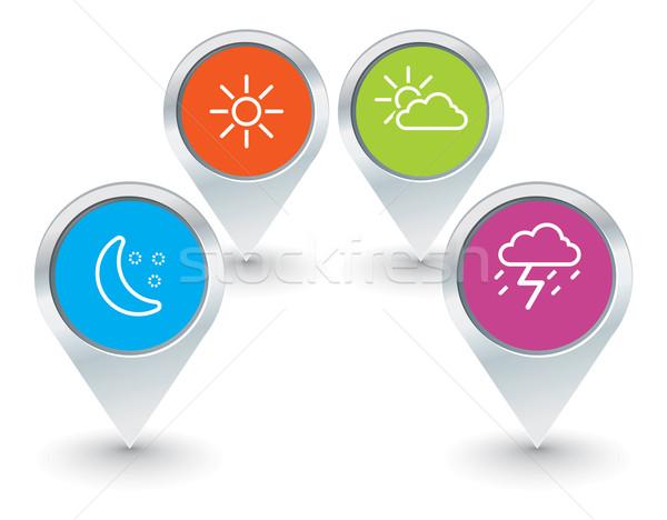 Carte météorologiques icônes technologie Photo stock © ojal