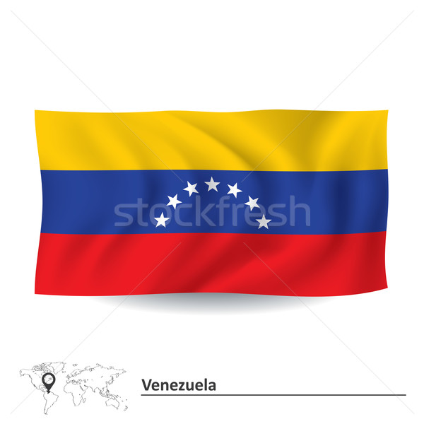 Vlag Venezuela wereld reizen kleur witte Stockfoto © ojal