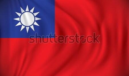 Bayrak Tayvan harita mavi Asya grafik Stok fotoğraf © ojal