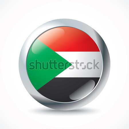 Sudan flag button Stock photo © ojal
