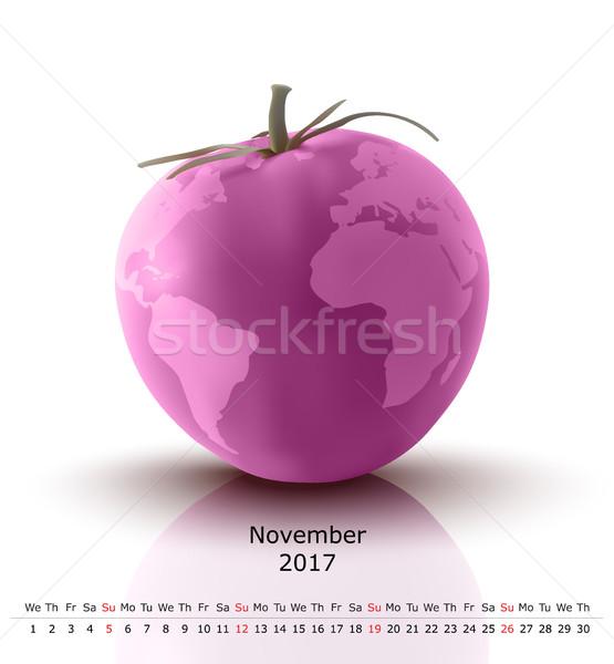 November 2017 tomato calendar Stock photo © ojal