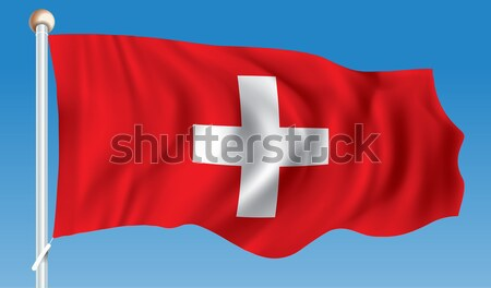 Flag of Switzerland Stock photo © ojal